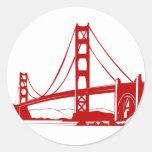 Golden Gate Bridge - San Francisco, CA Round Sticker