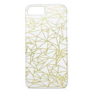 Golden Geo Triangle Design iPhone 7 Case