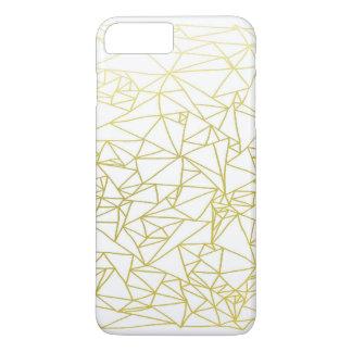 Golden Geo Triangle Design iPhone 7 PLUS + Case