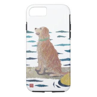 Golden Retriever, Beach Dog, Paddle Board iPhone 7 Case
