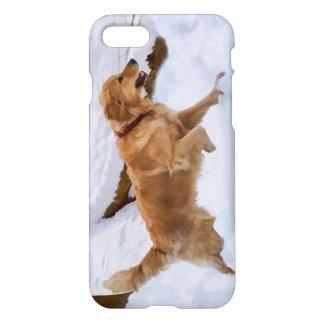 Golden Retriever Dog in the Snow iPhone 7 Case