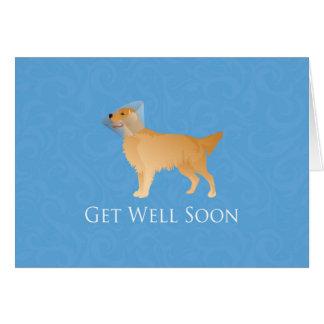 Golden Retriever Get Well Soon Greeting Card