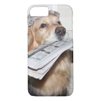 Golden Retriever Newsboy iPhone 7 Case
