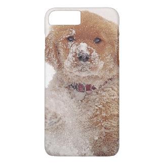 Golden Retriever Pup in Snow iPhone 7 Plus Case