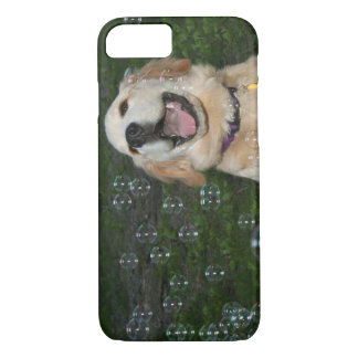 Golden Retriever Puppy Playing with Bubbles iPhone 7 Case