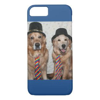 Golden Retrievers Wearing Hats and Ties iPhone 7 Case