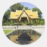 Golden Roof Pavilion Thailand Round Sticker