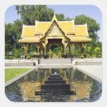 Golden Roof Pavilion Thailand Square Sticker