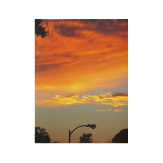 Golden Time of Day Wood Poster