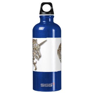 Golden tribal unicorn SIGG traveller 0.6L water bottle