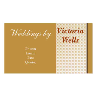 Golden Weddings and Events Pack Of Standard Business Cards