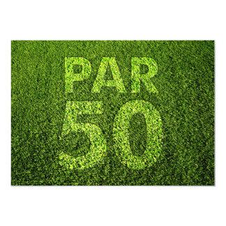 Golf 50th Birthday Party 13 Cm X 18 Cm Invitation Card