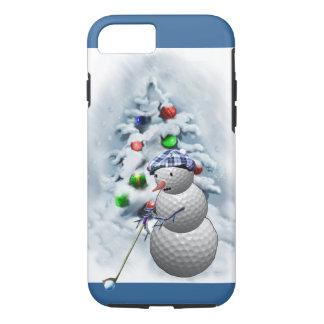 Golf Ball Snowman Christmas iPhone 7 Case