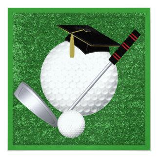 Golf  Graduation - SRF 13 Cm X 13 Cm Square Invitation Card