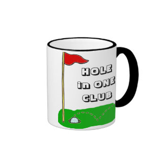 Golf Hole in One Club Custom Personalized Ringer Mug