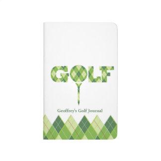 Golf score record journal green white