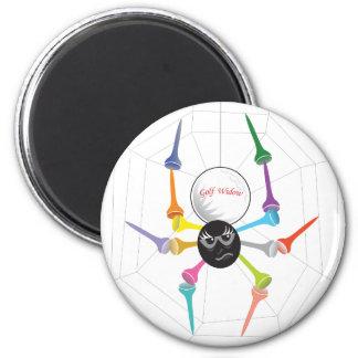 Golf Widow Black Widow Spider Tees 6 Cm Round Magnet