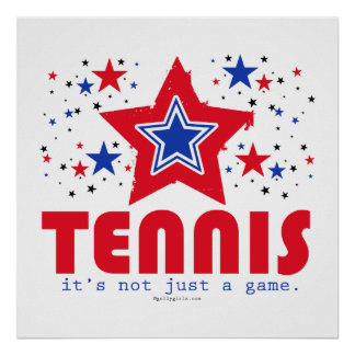 Golly Girls Patriotic USA Stars Tennis Poster