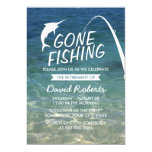 Gone Fishing Beach Retirement Party 13 Cm X 18 Cm Invitation Card