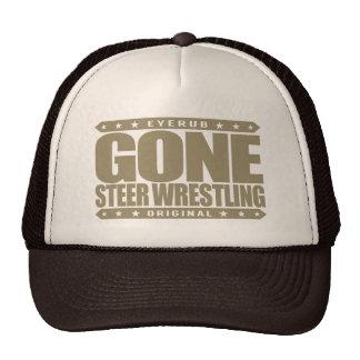 GONE STEER WRESTLING - I Love Rodeo & Bulldogging Cap