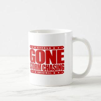 GONE STORM CHASING - Love Cyclone, Tornado Hunting Basic White Mug