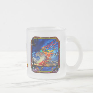 Good Hunting Eagle Sky background clear edge Frosted Glass Mug