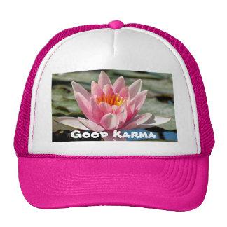 Good Karma Pink Golfer Hat, or Trucker Hat
