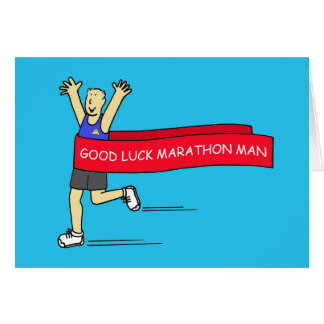 Good Luck marathon man. Greeting Card