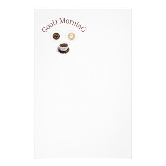 Good morning with coffee 14 cm x 21.5 cm flyer