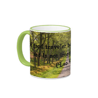 Good Traveller Quote Coffee Mug (Lao Tzu)