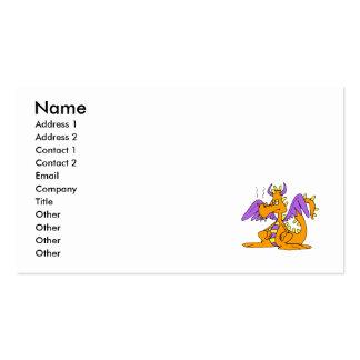 Goofy Orange Dragon Pack Of Standard Business Cards