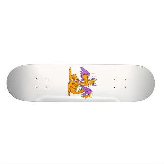 Goofy Orange Dragon Skate Board