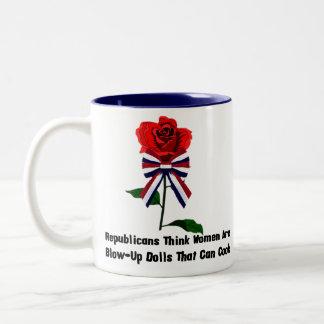 GOP Blow-Up Dolls Two-Tone Mug