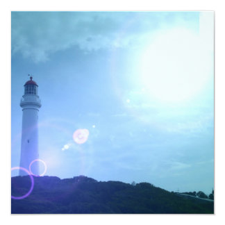 Gorgeous Towering Lighthouse 13 Cm X 13 Cm Square Invitation Card