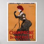 Gorgeous vintage art nouveau French champagne ad Poster