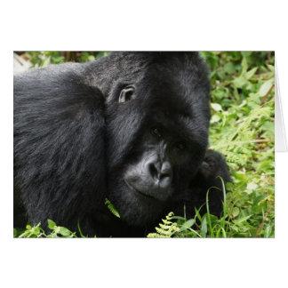 Gorilla my dreams - male note card