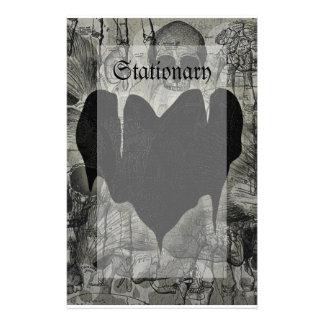 Gothic Heart Stationery