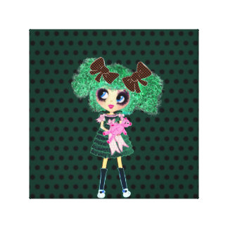 Gothic Lolita girl emerald girly gifts Canvas Prints