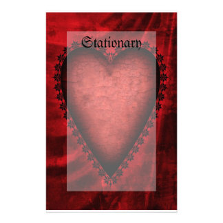 Gothic Red Heart Stationery Design