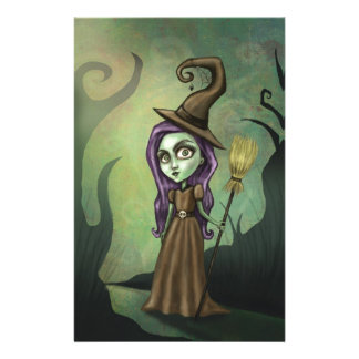 Gothic Steampunk Witch Stationery Paper