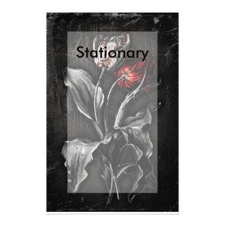 Gothic Tulips Customized Stationery