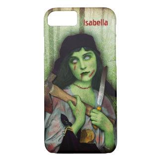 Gothic Zombie Girl Halloween Horror Name iPhone 7 Case