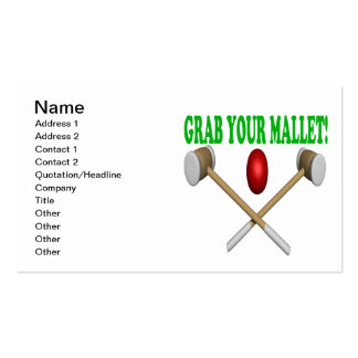 Grab Your Mallet Pack Of Standard Business Cards