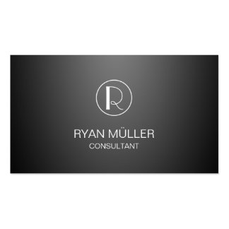 Gradient Background Professional Chic and Monogram Pack Of Standard Business Cards