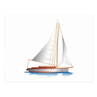 Gradient Style Sailboat Postcard