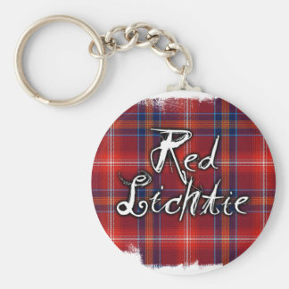 Graffiti Red Lichtie collection Basic Round Button Key Ring