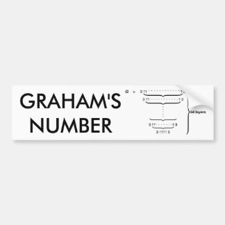 """GRAHAM'S NUMBER"" BUMPER STICKER"
