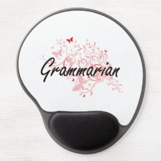 Grammarian Artistic Job Design with Butterflies Gel Mouse Pad