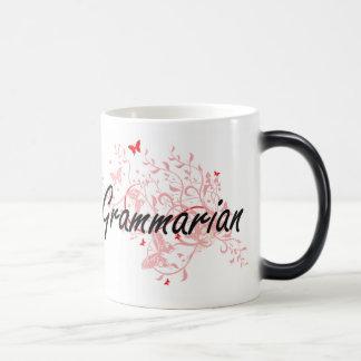 Grammarian Artistic Job Design with Butterflies Morphing Mug