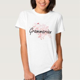 Grammarian Artistic Job Design with Butterflies T-shirt